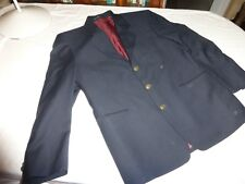 YVES SAINT LAURENT AUTHENTIC 38/40'' CHEST DARK NAVY SINGLE BRESTED LENGTH 30''