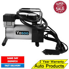Heavy Duty Portable 12V Air Compressor 100psi Car Van Tyre Tire Inflator Pump Uk