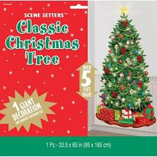 "65"" Classic Christmas Tree Party Decoration Scene Setter Add-on Prop"
