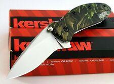 Couteau Kershaw Scallion A/O Camo Acier 420 Manche Alu Camo Made In USA KS1620C