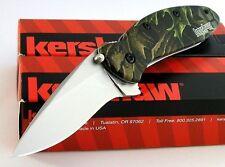 Couteau Kershaw Scallion A/O Camo Acier 420 Manche Alu Camo Made In USA KS1620C