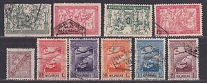 Mozambique Scott MR1-MR4 C1-C5 P6 Back of Book Issues War Tax Airmail Newspaper