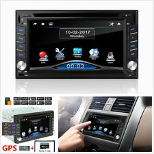 HD 2 DIN Touch Screen Bluetooth Car Stereo FM Radio GPS Navigation CD DVD Player