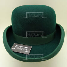 CLASSIC Wool Felt Dura Bowler Top Hat Men Women Derby Unisex | Green | 4 Sizes
