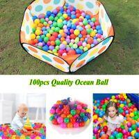 100pcs Quality Secure Ocean Ball Baby Kids Pit Toy Swim Fun Colorful 4cm/5.5cm