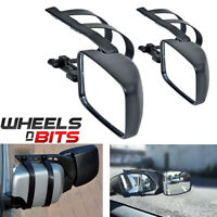 2 x CARAVAN TOWING MIRROR EXTENSION CAR WING MIRRORS FOR BOTH DRIVER + PASSENGER