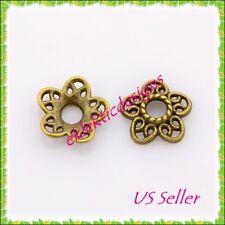 A5621 200 pcs of 14mm Gold Plated Filigree 3 Petals Flower Bead  Caps