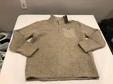 NWT $80.00 Under Armour CG Mens Specialist Henley Snap Mock Sweater Khaki XXL