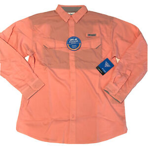 Columbia PFG Low Drag Offshore L/S Mens Size M Vented Fishing Shirt NWT