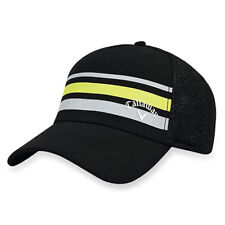 CALLAWAY GOLF 2017 STRIPE MESH CAP / HAT FITTED SZ: L/XL BLACK/YELLOW/GRAY 18968