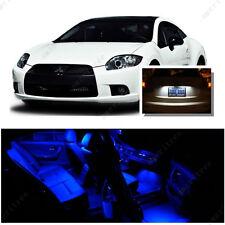 For Mitsubishi Eclipse 2006-2012 Blue LED Interior Kit + White License Light LED