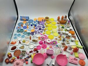 Barbie Dollhouse DIORAMA Food Accessory GROCERY 200pc Lot HUGE DISHES DRINKS