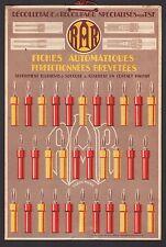 Carton publicitaire TSF Poste Radio Lampe RAR Lamp  Publicité  1930 - 10h