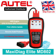 Autel MD802 Auto Diagnostic Tool OBD2 Fault Code Reader ABS SRS EPB Oil Reset UK
