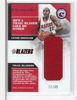 2017-18 Clyde Drexlier #/99 Jersey Panini Chronicles Blazers