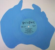 "David Bowie, Press Conference, NEW/MINT Australia shaped BLUE VINYL 7"" single"