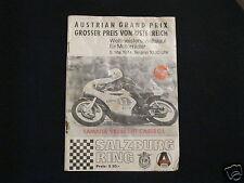 Renn-Programm Austrian Grand Prix Großer Preis von Österreich 1974 WM Motorrad