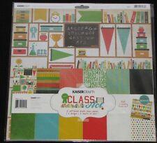 """Kaisercraft 'CLASS ACT' 12x12"""" Paper Pk + Stickers School KAISER *SPECIAL PRICE*"""