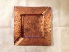 square hammered copper ashtray