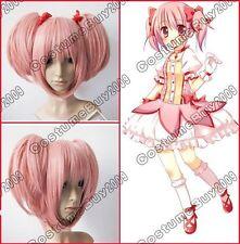 Mahou Shoujo Puella Magi Madoka Magica Madoka Kaname Cosplay Pink Twin Tails Wig
