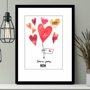 Mother's Day Personalised Print Gift,Best Mummy,Special Mum Nanny,Granny Gift