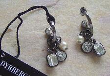 Dyrberg Kern Hoop Earrings Maillot Gunmetal/Crystal