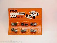 Tyco Magnum Ho Slot Car 6 paires de roues arrières pneus mousse neuf/blister