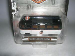 Maisto Harley-Davidson Customs Volkswagen Van Samba Black White Blister, 1:64