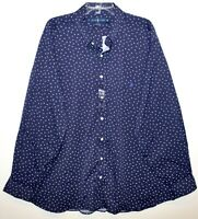 Polo Ralph Lauren Big Tall Mens Navy Blue Triangles Button-Front Shirt NWT 1XB