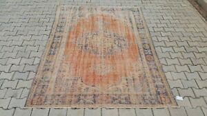 Oushak 6x8ft,Turkish Rug,vintage,anatolian,ORANGE RUG,Bohemian,handmade,wool