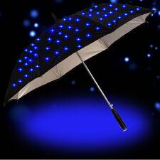 Cool Long-handled LED Flashing Rain Umbrella Night Protection Fashion Style Gift
