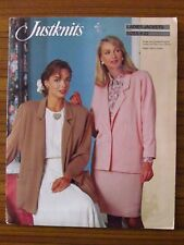 JUSTKNITS PATTERN - LADIES JACKETS SINGLE or DOUBLE BREASTED 8-22 UNCUT