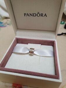 PANDORA Charm - Clip 925 Silber 14K Gold  Zirkonia