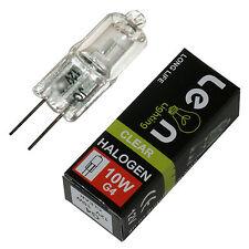 10 X G4 10 W lámparas Halógenas Cápsula 12 V AC DC bombillas acabado transparente