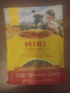 Zuke's Mini Natural Healthy Fresh Peanut Butter and Oats Dog Training Treats 6oz