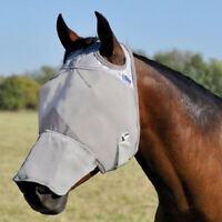 CASHEL STANDARD COOL FLY MASK for HORSE With COVERS Long NOSE sun protection