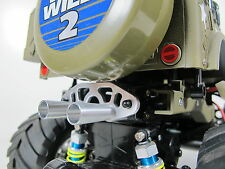 Custom Aluminum Muffler Battery Stopper Tamiya 1/10 RC Wild Willy 2 WR-02 VW Bus