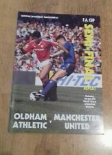 Oldham Athletic v Man Utd  fa cup semi final replay 11-4-1990 (467)c