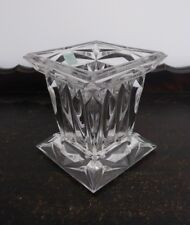 """Partylite 5"""" Quad Prism Crystal Candle Pedestal out of box P7967 VGC"""