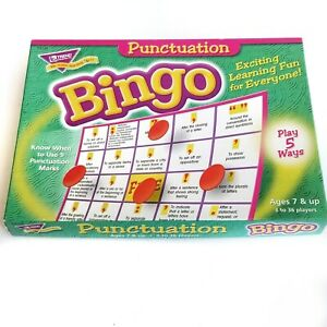 Punctuation BINGO Game Board Game Education Learning Ages 7 & Up