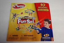 KNEX INSTRUCTION MANUAL ONLY #11556 Flying Fun 10 Model Building Set Book