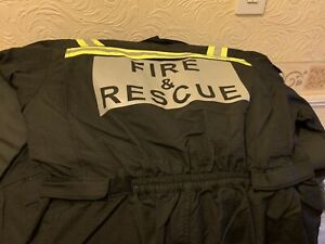 Firefighter Lion Apparel Black Gortex Coveralls With Hi Viz Bands Size L/S
