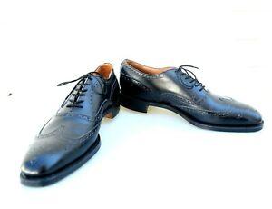 NOS Churchs Custom Grade Chetwynd Black Full Brogue Wing Tip Men Dress Shoes 11A