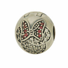 "ORIGINAL PANDORA Bead Element Disney Charm 791450 CZ ""Minnie Pave' Clip"" Stopper"