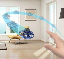 Hand Operated Flying Spinner Fidget Stress Toys Flynova Mini UFO Drone Toys Blue