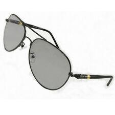 New Black Aviator Sport Polarized Photochromic Transition Sunglasses C1356ST