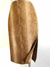 NEW FIGURE CAMEL SNAKE SKIN  PRINT A LINE - SLIT ON SIDE  SKIRT SIZE 14 OR  48