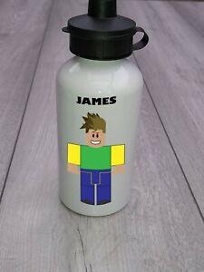 Roblox style custom printed and personalised kids aluminum water bottles