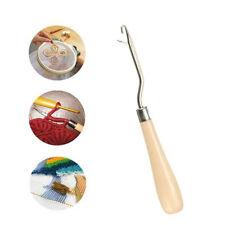 Wood Handle Latch Crochet Hook Hair Weave Needle Wigs Knitting Extensions Tools