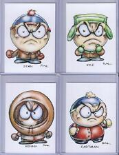 SOUTHPARK SET OF 5 ** TRADING CARD ART SIGNED by RAK ** NM ** CARTMAN WENDY STAN